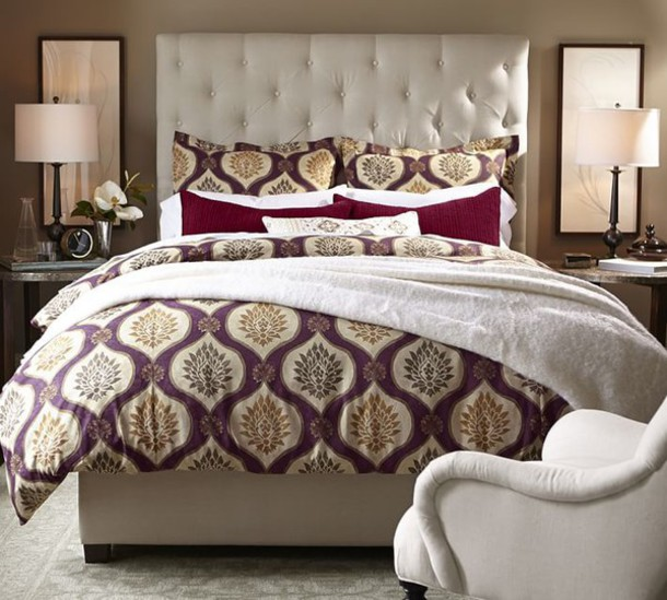 home accessory bedding bedding bedding duvet potterybarn burgundy upholstered classy home decor bedding