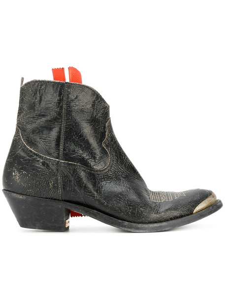 GOLDEN GOOSE DELUXE BRAND western boots women leather black shoes