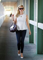 top,shoes,reese witherspoon,jeans,bag,black jeans