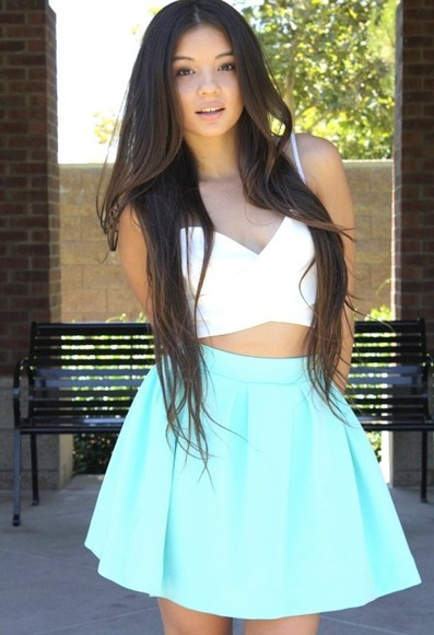 skirt mint skirt mint skater skirt scuba skirt tank top scuba skater skirt bubble skirt