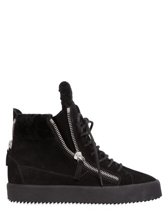 sneakers suede wedge sneakers black shoes
