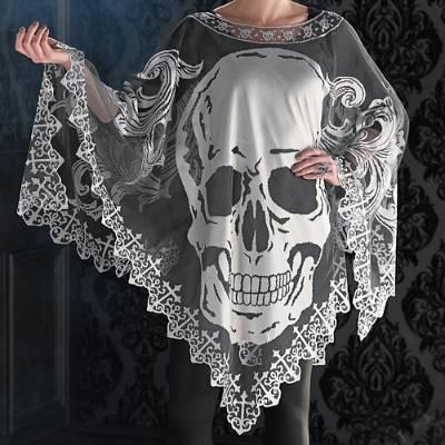 Skull Poncho | Grandin Road