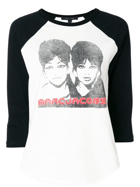 Marc Jacobs t-shirt shirt t-shirt women white cotton top