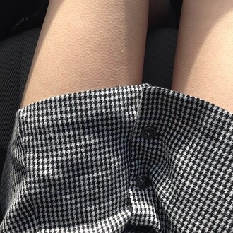 clothes buttons black and white skirt