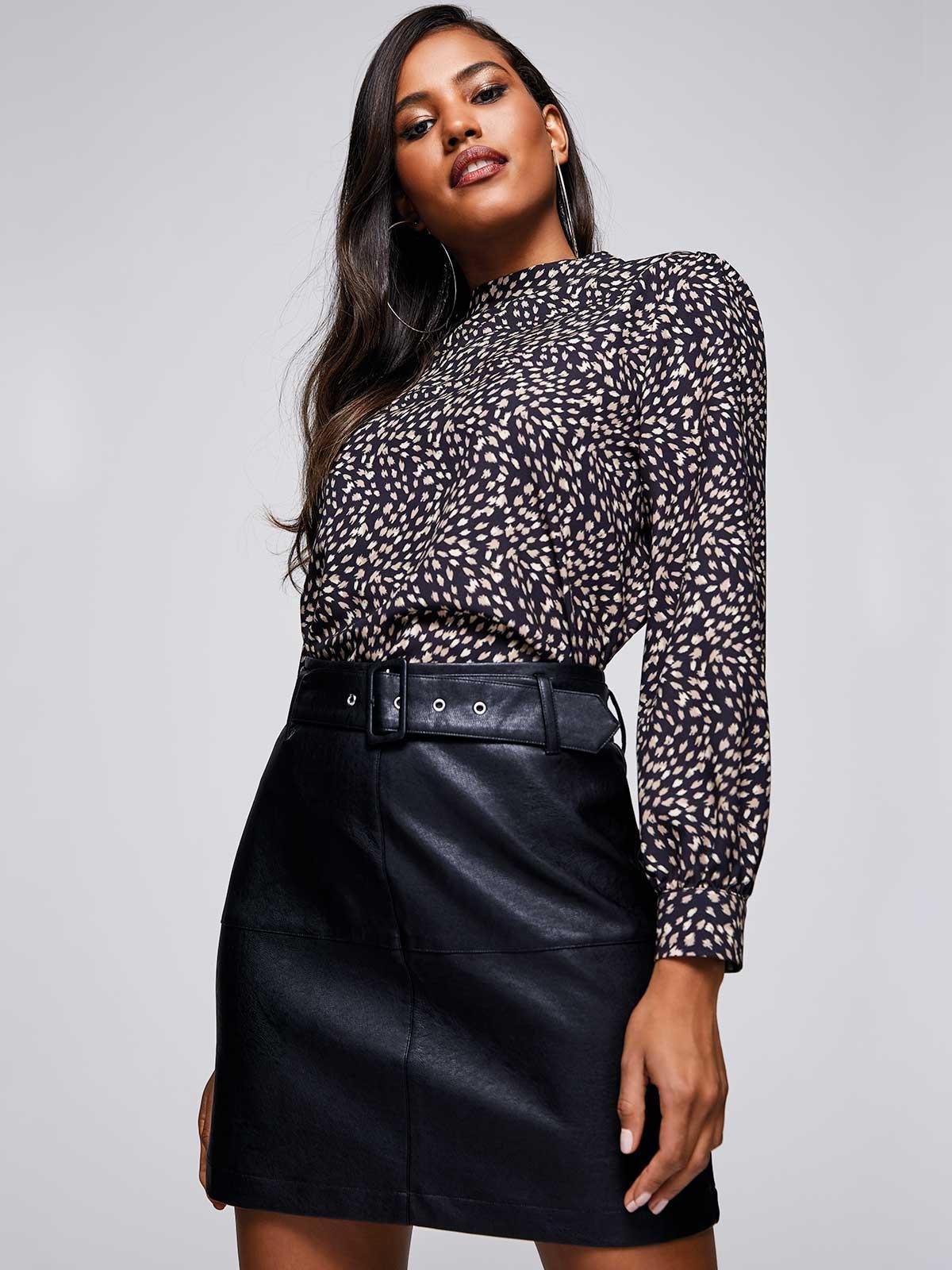 Womens ENVY Black PU Mini Skirt | Peacocks