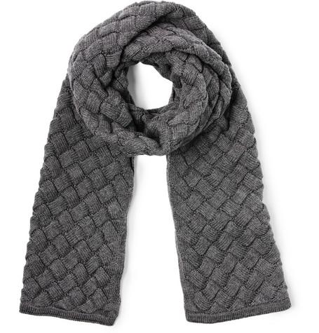 Bottega Veneta - Intrecciato Wool Scarf|MR PORTER