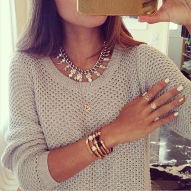 shirt grey white beautiful sweater fine knit jumper beige jumper wooly  comfy wintry knitwear sweater winter 21fadef8e