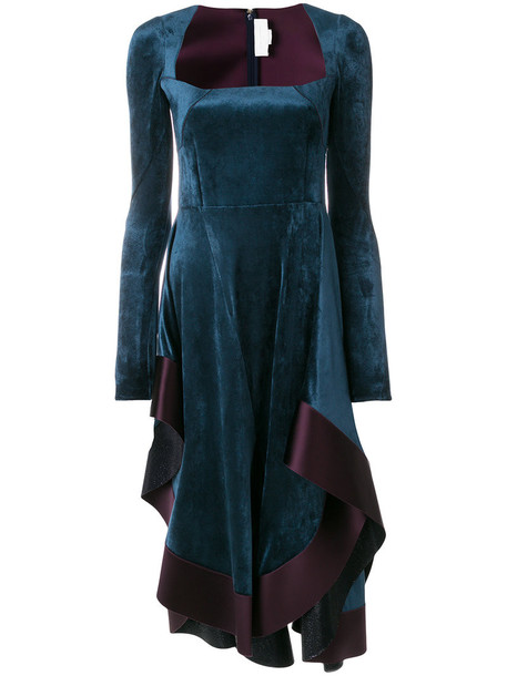 Esteban Cortazar dress long women cotton blue