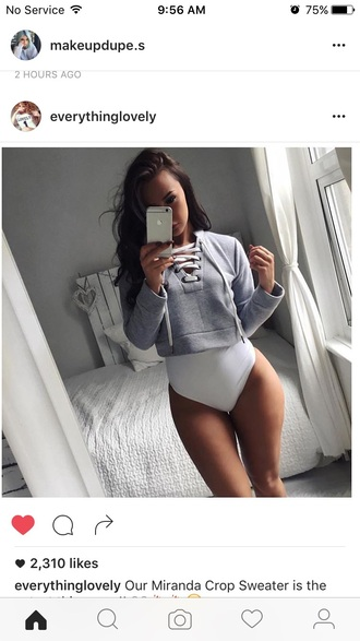 jacket white grey grey top grey hoodie hoodie cropped hoodie cropped sweater swimwear one piece one-piece swimwear white swimwear one piece white bathing  suit.