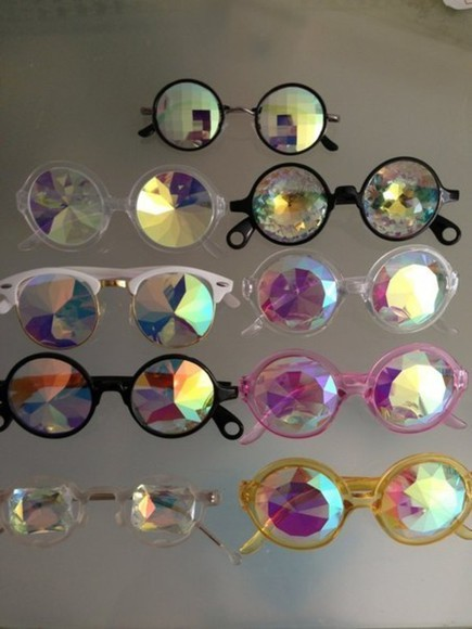 sparkling sunglasses glasses round sunglasses weird sparkle shiny holographic hippie glasses jeweled hipster chic hippie chic