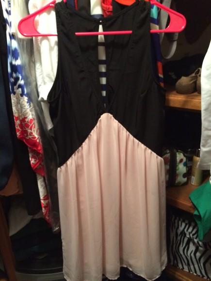 ivory dress black dresses peach dress nasty gal deep v dress short dress