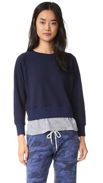 sweatshirt navy sweater