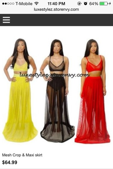 mesh bodysuit mesh skirt long mesh skirt maxi skirt maxi dress red skirt