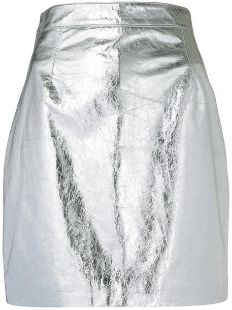 Proenza Schouler skirt mini skirt mini metallic women leather grey