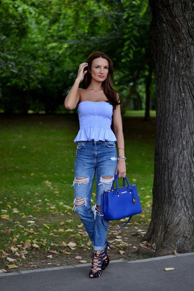 my silk fairytale shoes bag top jeans