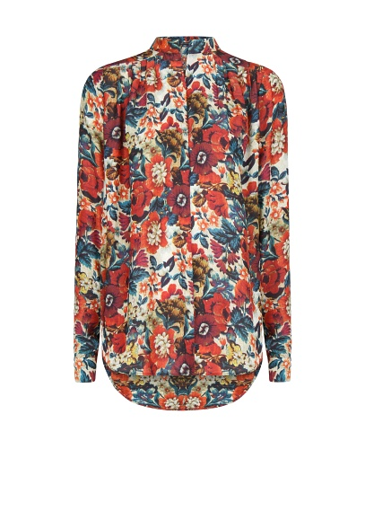 MANGO - CLOTHING - Floral print lightweight blouse