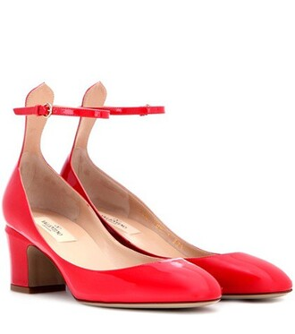 tan pumps leather red shoes