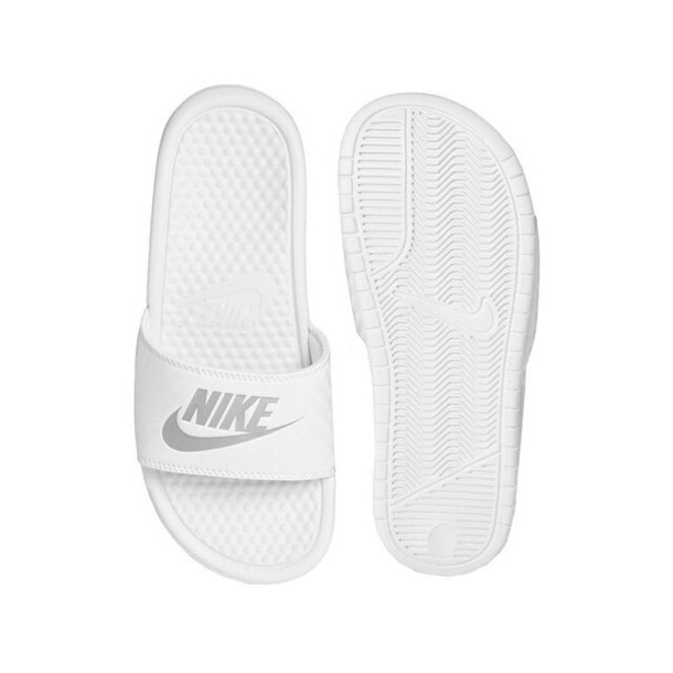 shoes idk nike shoes slide shoes white shoes
