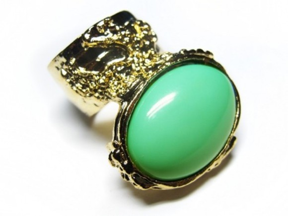 jewels stone ring gold