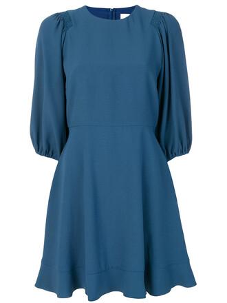 dress pleated dress pleated women blue
