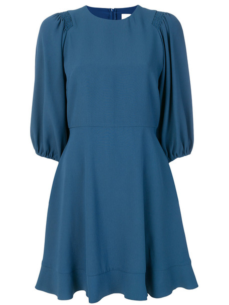 RED VALENTINO dress pleated dress pleated women blue
