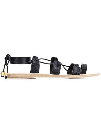 snake sandals black shoes