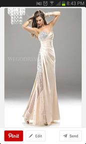 dress,ivory dress,prom dress,long prom dress