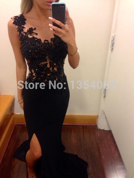 Aliexpress Buy 2014 New Sexy Floor Length Whiteblack Lace