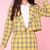Glitters For Dinner — Made To Order - Yellow Tartan Cher Blazer