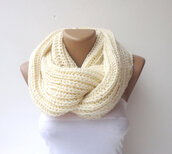 scarf,scarves,infinity scarf,knitting scarf,mens scarf,women,ivory,cream,gift ideas,girl,fashion,winter scarf,winter outfits