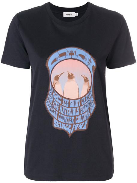 coach t-shirt shirt t-shirt women cotton black top