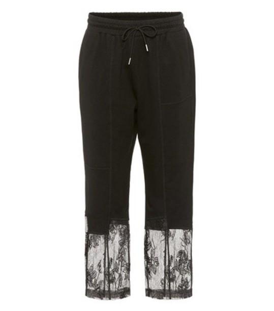 McQ Alexander McQueen sweatpants lace black pants