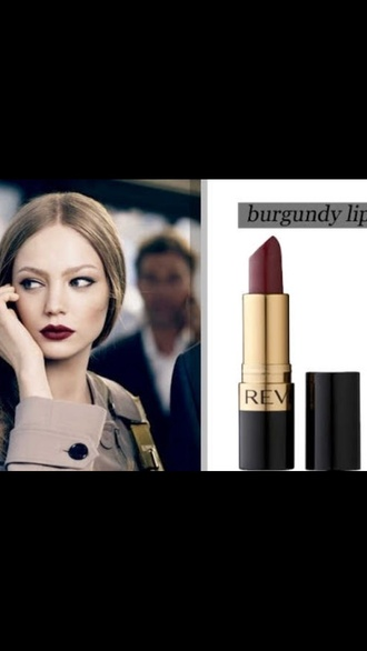 make-up burgundy lipstick burgundy