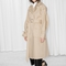 & other stories   oversized trench coat   beige