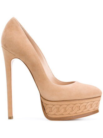 women pumps platform pumps leather nude pattern shoes