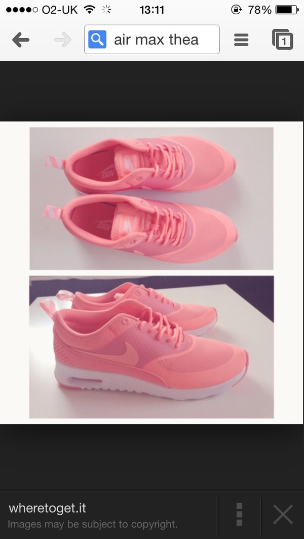 shoes atomic pink coral nike airmaxthea air max nike air trainers nike trainers love