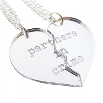 jewels necklace partners in crime partner in crime partner in crime friendships   bracelets friendship necklace