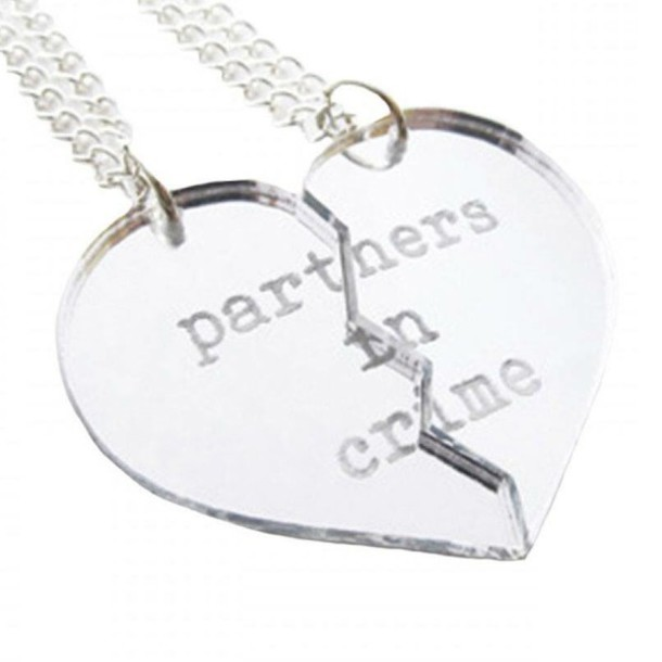 puzzle partner is necklaces jigsaw trendor itm image loading jewellery pendant silver necklace s