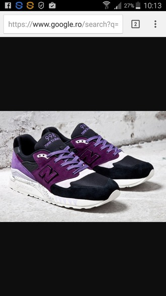 shoes low top sneakers sneakers new balance purple