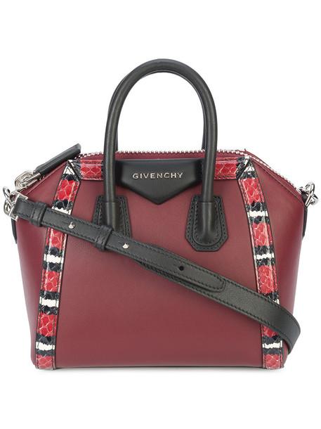 Givenchy snake mini women snake skin bag tote bag leather red
