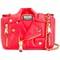 Moschino biker shoulder bag, women's, red