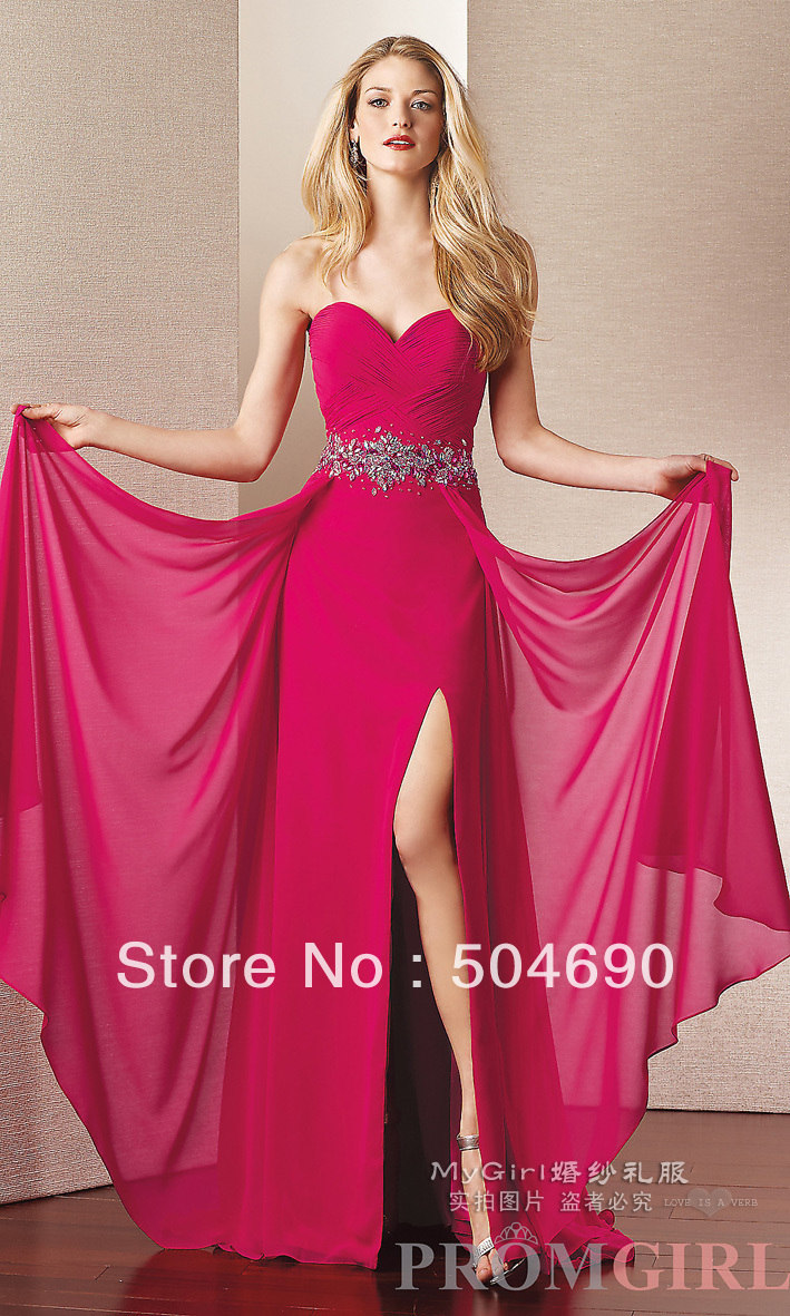 Dress Rose Color Prom Gown