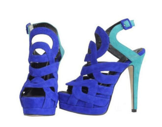 shoes suede high heels high heel sandals royal blue blue blue shoes platform shoes hollow out