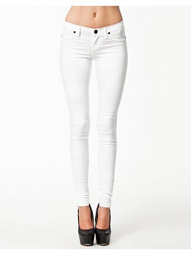 Kissy Colored Leggings - Dr Denim - Vit - Jeans - Kläder - Kvinna - Nelly.com
