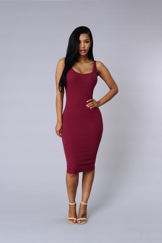 dress burgundy dress bodycon dress midi dress