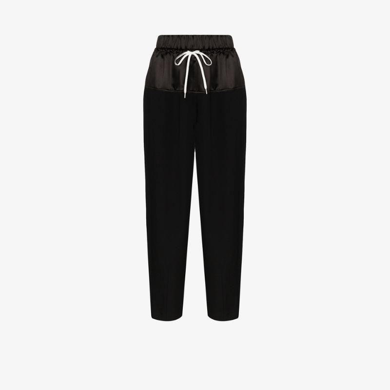 Givenchy wide leg silk track pants