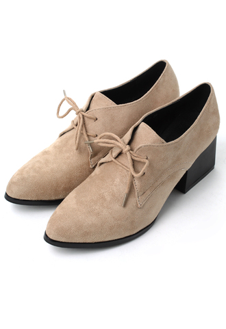 shoes faux suede pointed toe camel