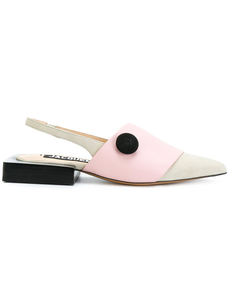 Jacquemus women mules leather nude shoes