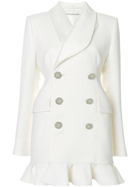 Alessandra Rich dress style women white cotton silk wool