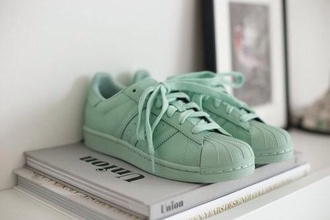 shoes green basket adidas supercolor style pharrell williams swag mint sneakers
